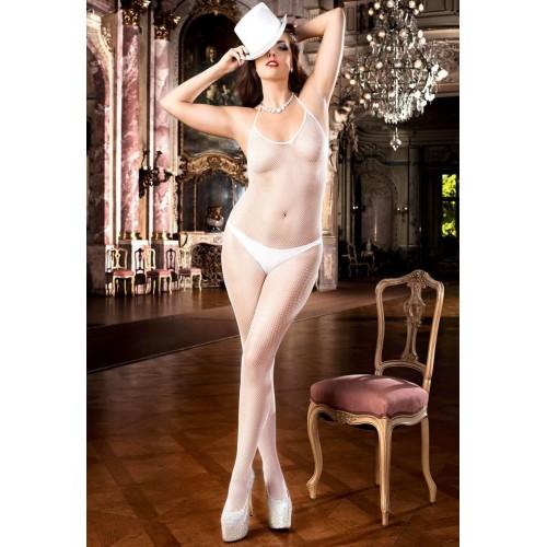 Белый комбинезон Angel из сеточки , Q (XL-XXL), белый