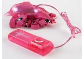 Розовый вибростимулятор в форме дельфина на регулируемых ремешках