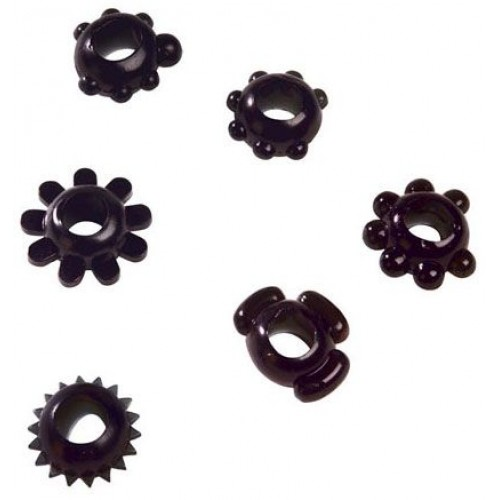 Чёрное эрекционное кольцо Joy Rings Black Magic