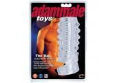 Открытая насадка на член Adam Male Toys The Tug CyberSkin Stroker