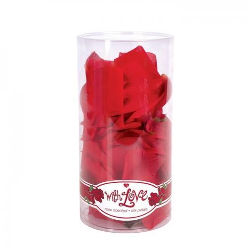 Декоративные розовые лепестки With Love Rose Scented Silk Petals