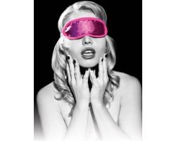 Розовая маска на глаза Satin Blindfold