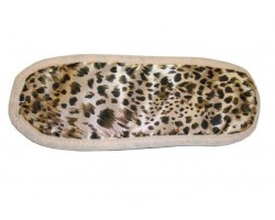 Леопардовая маска на глаза Satin Blindfold