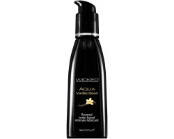 Лубрикант с ароматом ванильных бобов Wicked Aqua Vanilla Bean - 60 мл.