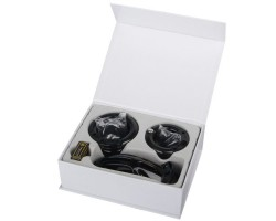 Мужской набор верности черного цвета с насадками большого размера
