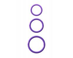 Набор из трех эрекционных колец Silicone 3-Ring Stamina Set