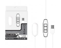 Белое виброяйцо с контроллером, работающее от USB