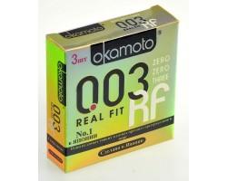 Сверхтонкие плотно облегающие презервативы Okamoto 003 Real Fit - 3 шт.