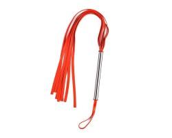 Красная плеть с металлической ручкой