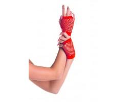 Короткие перчатки Fishnet Gloves, S-M-L, белый