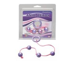 Фиолетовые анальные шарики GOOD VIBES ANAL BEADS SMALL