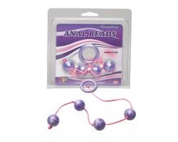 Фиолетовые анальные шарики GOOD VIBES ANAL BEADS MEDIUM