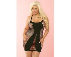 Сексуальное платье-сетка на тонких бретелях AMNESIA SEAMLESS HOT DRESS