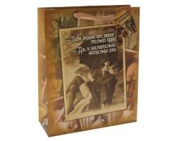 Большой бумажный пакет  Пикантный подарочек  - 44,5 х 32 см.