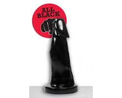 Чёрный фаллоимитатор огромного размера - 39 см.