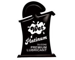 Гель-лубрикант на силиконовой основе Wet Platinum - 10 мл.