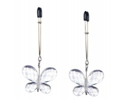 Зажимы для сосков с подвесками-бабочками Butterfly Clamps