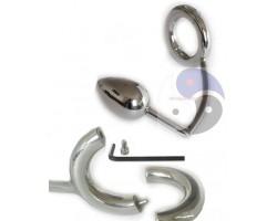 Разборное эрекционное кольцо с анальным плагом 2-Pcs Ring with Egg Asslock