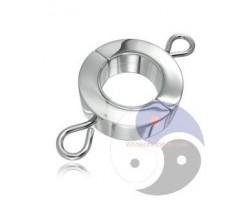 Большой зажим на мошонку с петлями для весов Ball Stretcher W/Attaching of Weights
