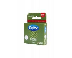 Ребристые презервативы Softex Ribbed - 3 шт.
