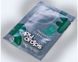 Пробник смазки на водной основе с ароматом мяты JoyDrops Mint - 5 мл.