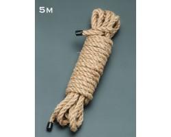 Пеньковая верёвка для бондажа - 5 м.