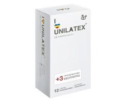 Разноцветные ароматизированные Unilatex Multifruit  - 12 шт. + 3 шт. в подарок