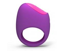 Фиолетовое перезаряжаемое эрекционное кольцо LIFEGUARD RING VIBE