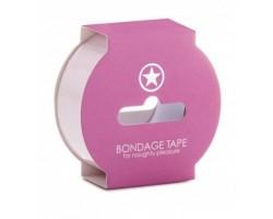 Нежно-розовая липкая лента Non Sticky Bondage Tape - 17,5 м.