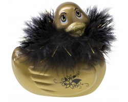 Золотистый массажер-уточка I Rub My Duckie Paris Gold