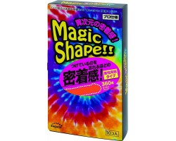 Презервативы Sagami Xtreme Magic Shape с ребристым швом - 10 шт.