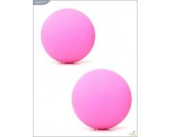 Металлические вагинальные шарики с розовым силиконовым покрытием