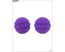 Металлические шарики Twistty с фиолетовым силиконовым покрытием
