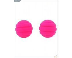 Металлические шарики Twistty с розовым силиконовым покрытием