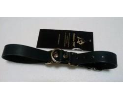Чёрные ременные наручники с полукольцом