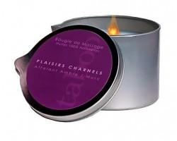 Массажная свеча Taboo Plaisirs Charnels с ароматом амбры и мускуса - 165 гр.