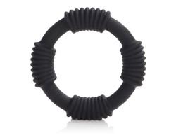 Чёрное эрекционное кольцо Adonis Silicone Rings Hercules