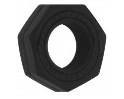 Чёрное эрекционное кольцо No.43 Cockring