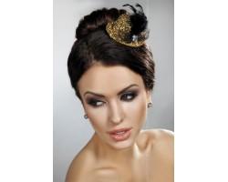 Золотистая блестящая мини-шляпка