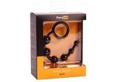 Чёрная анальная цепочка Anal Beads - 20,5 см.